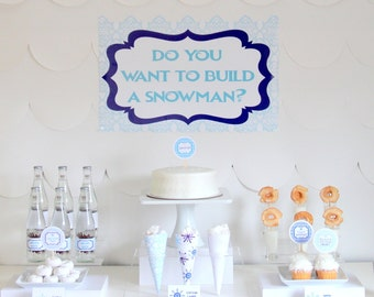 PRINTABLE Frozen-inspired party decor, labels and signs- complete printable party kit by kojodesigns