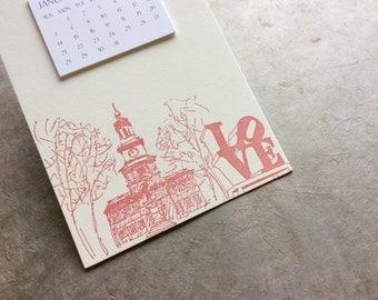 Philadelphia Cityscape Postcard Calendar