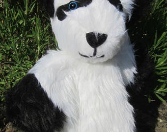 Puppet Panda Bear Hand Glove Puppet Creative Toy Animal Play Toy Fluffy Animal Toy Gift Teaching Aid Shower Basket Item Animal Toy Present