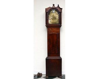 English grandfather clock, regency around 1830
