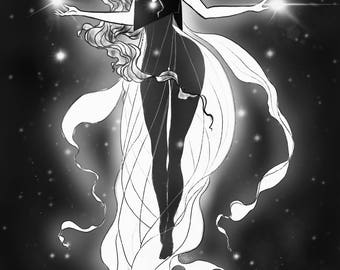 Starlight Goddess art print