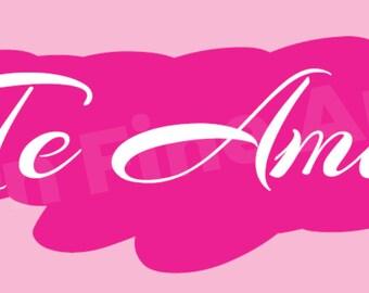 Te Amo Art Design Digital Download