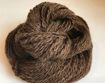 Aran Handspun 2-ply yarn ~ 100% wool from home-raised Finn/Shetland cross Sheep