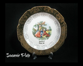 souvenir plate - collectible plate - advertisement plate - promotional plate - ad plate -- Home decor plate -  # 46