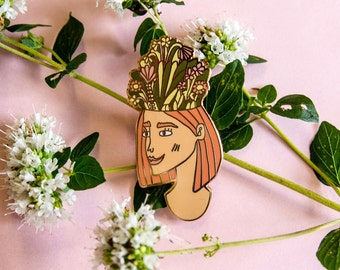 Floral Thoughts Enamel Pin Badge