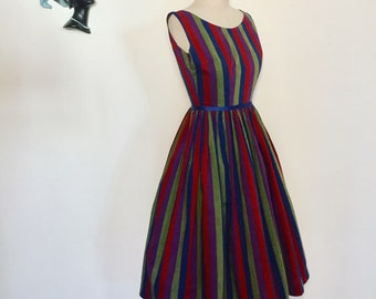 Vintage 50s Striped Dress