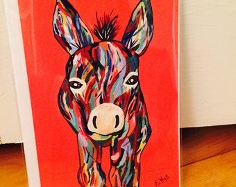 EricaNyeART Donkey Card