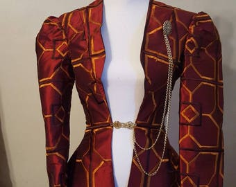 Red Geometric Steampunk Jacket