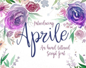 Aprile - A romantic hand lettered calligraphy font