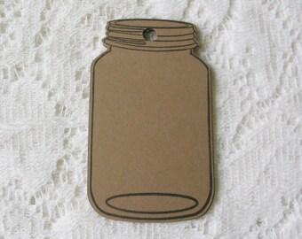 Mason Jar Tags – 3.5 Inch Large Mason Jar Gift Tags – Packaging Tags – Blank Tags – Rustic Gift Tags –DIY Tags - Homemade Gift Tags