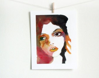 What You Talking About - art print of watercolor painting