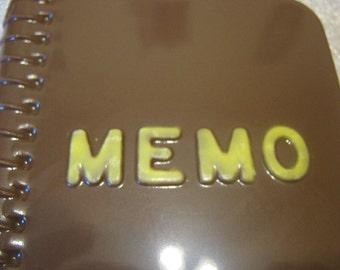 Chocolate memo book