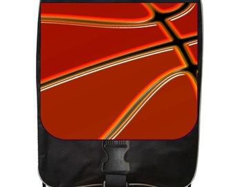 Baskeball Up Close - Black School Backpack