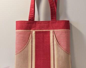 15% off, easter sale! Handmade Medium Tote Bag, Handbag, Shopping Bag, Perfect Gift for Her,