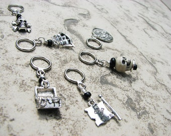 Pirate Non-Snag Stitch Markers