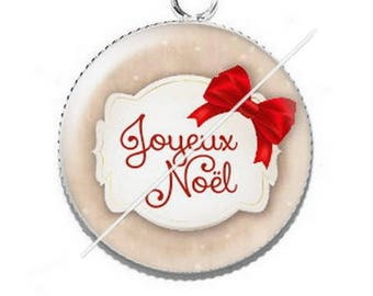 Pendant cabochon resin Merry Christmas happy holidays 31