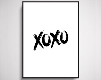 XOXO Typographic Design
