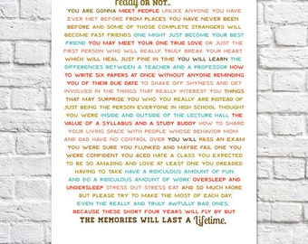 High School Graduation Gift For Her Girl Graduation Words Of Wisdom Art Print Dorm Room Wall Decor Idea College Quote Ready Or Not Poster