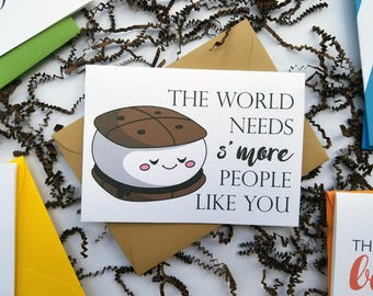 World Needs S'more People Like You Thank You Card with Matching Envelope