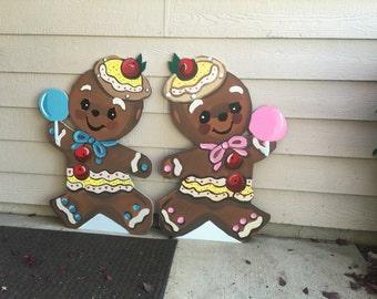 Gingerbread Man- Gingerbread decor- Vintage Gingerbread- Retro Gingerbread- Christmas Yard Art- Christmas Yard Decoration- vintage christmas