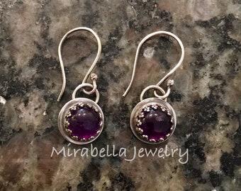 Silver Earrings, Amethyst,  Artisan Jewelry, Jewelry Art, Handmade, Metalsmith, Artisan Jewelry, Art Jewelry