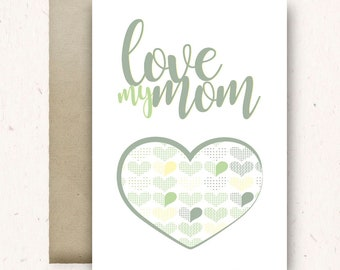 Mother's Day card printable \ Greeting card \ Happy Birthday MOM card digital print \ 1 file 10 x 14 cm > download