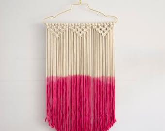Macrame wall hanging / modern macrame / macrame wall art / wall decor / fiber art / dip dye
