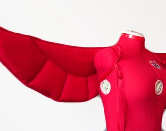 Red Falcon Wings. Superhero Comic Bird. Long-Lasting, Quality.