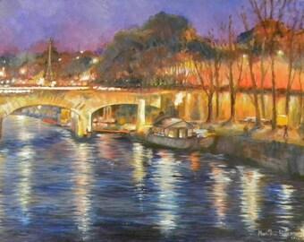 OOAK Original OIL Painting Parisian Scene