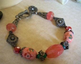 Coral Porcelain Bracelet