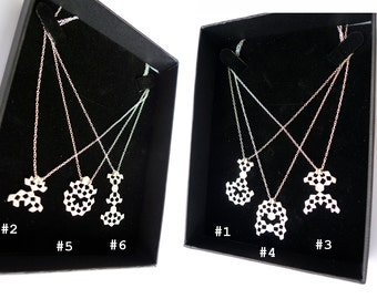 Special Offer. Mini Mashrabiya Necklace Collection. Set of 6. Modern Geometry. Handmade Sterling Silver. Dainty Light Thin Necklaces.