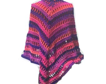Flamingo Triangular Shawl Crochet Shawl Wrap Pattern Digital PDF File Only Is Not a Finished Product