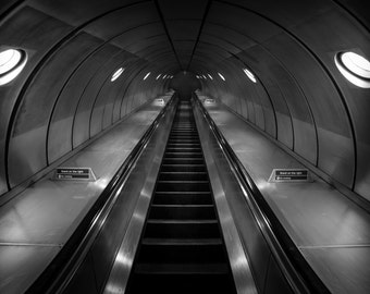 London Fine Art Photo Print: The Only Way Is Up, print of London Underground