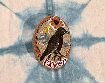Raven Spirit Animal Stone