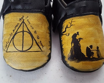 Toddler Hand Painted Harry Potter Shoes