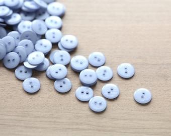 Plastic Buttons - 50 pcs of lavender plastic buttons - 10mm