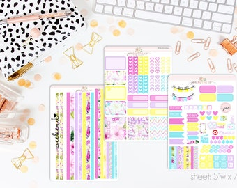 Summer Lovin' HORIZONTAL Weekly Kit // 130+ Matte Planner Stickers // Perfect for your Erin Condren Life Planner // WKH0260