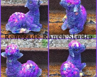Adorable purple glitter lamb sheep farm animal. Read details