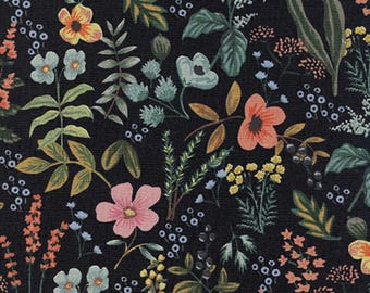 Herb Garden - Midnight in CANVAS from Amalfi by Rifle Paper Co. for Cotton + Steel