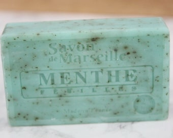 SOAP with mint leaves 100% natural / / natural SOAP