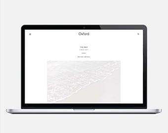 OXFORD - Responsive Budget Blogger Theme - Sticky Navigation Bar, simple, minimal, sleek