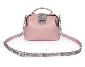 Leather Cross body Bag, Tourmaline Leather Shoulder Bag, Women's Leather Crossbody Bag, Leather bag KF-1517