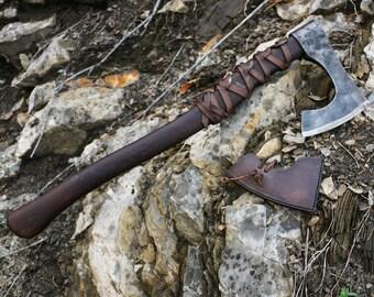 RAGNAR - vikingo hacha Berserker de Guerrero arma frío nórdico Vikings pagana Asatru reconstrucción Lothbrok barbudo hachas medievales edad media Sca