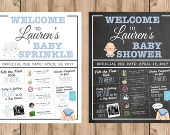 Baby Sprinkle/Shower Welcome Infographic
