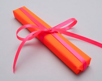 Neon Orange Wrapping Paper 10m roll — Neon Orange Gift Wrap — 1/3 off regular price — **Plus an EXTRA 20% OFF sale**