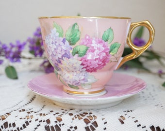 Carousel Royal Stafford Bone China, Made in England, Tea Cup and Saucer - Royal Stafford Tea Cup and Saucer - Pink Tea Cup - Bridal Shower
