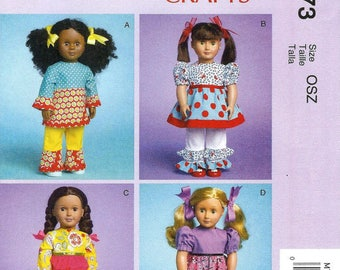 McCalls 7173- Sewing pattern for 18 Inch Doll Clothes- Fits American Girl Dolls-