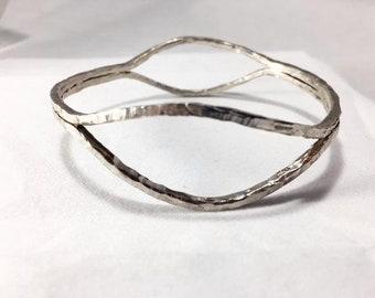Sterling silver eye cuff
