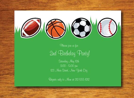 Sport Geburtstags-Einladung-Sport Geburtstag Partei