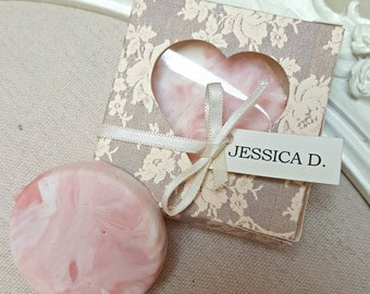 Handmade Lace Design Chocolate Wedding Favours/Place Cards